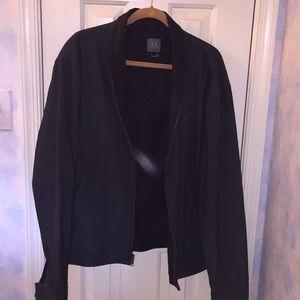 Armani Exchange Gray Wool Blend Jacket XL/L
